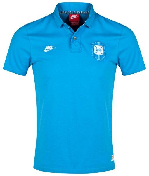 NIKE ブラジル  グランドスラム コヴァートポロシャツ Blue 1