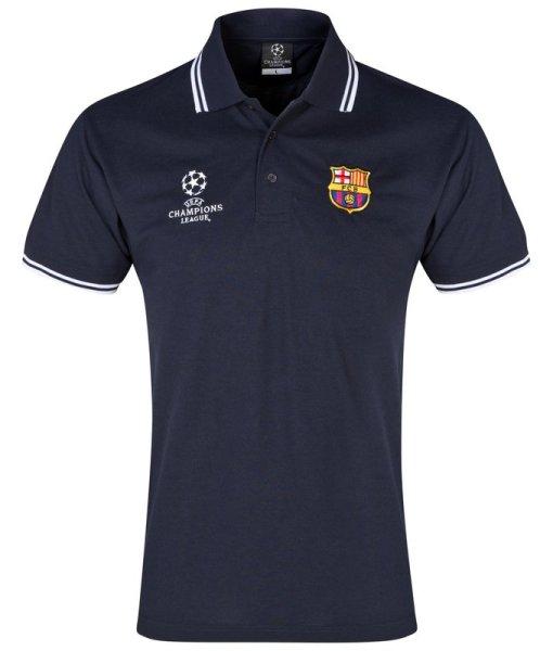 FCバルセロナ  UEFA CL オフィシャルポロシャツ Navy 1