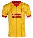 リバプール  オフィシャルレトロ1982アウェイシャツ Yellow