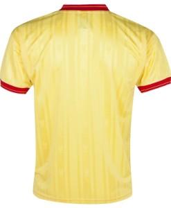 リバプール  オフィシャルレトロ1986アウェイシャツ Yellow