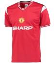 マンチェスターユナイテッド  オフィシャルレトロ1985ホームシャツ Red