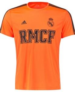 adidas レアルマドリード 3ストライプコアTシャツ Orange