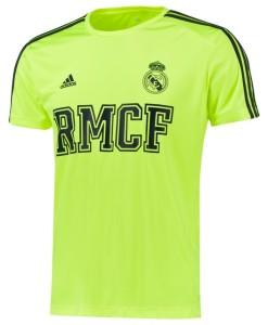 adidas レアルマドリード 3ストライプコアTシャツ Yellow