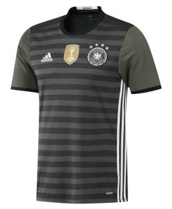 adidas ドイツ 2016アウェイオーセンティックユニフォーム Black