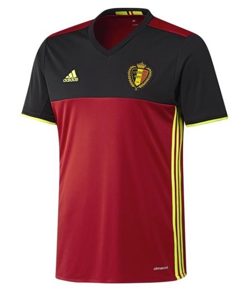 adidas ベルギー 2016ホーム ユニフォーム Red 1