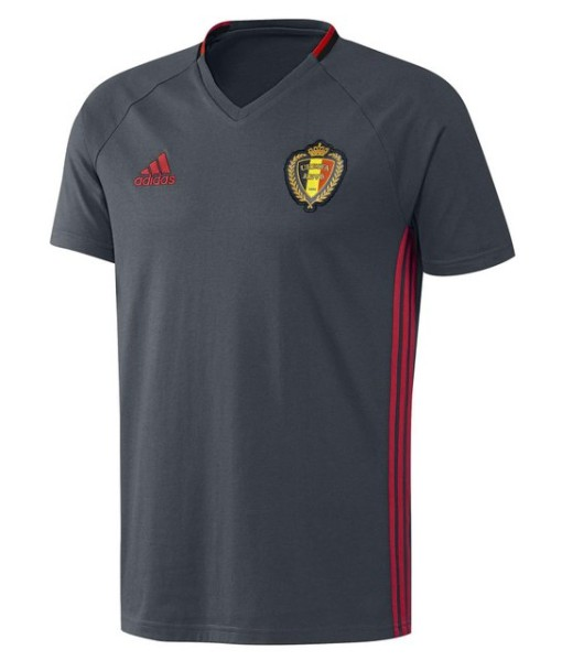 adidas ベルギー 2016トレーニングTシャツ Grey 1