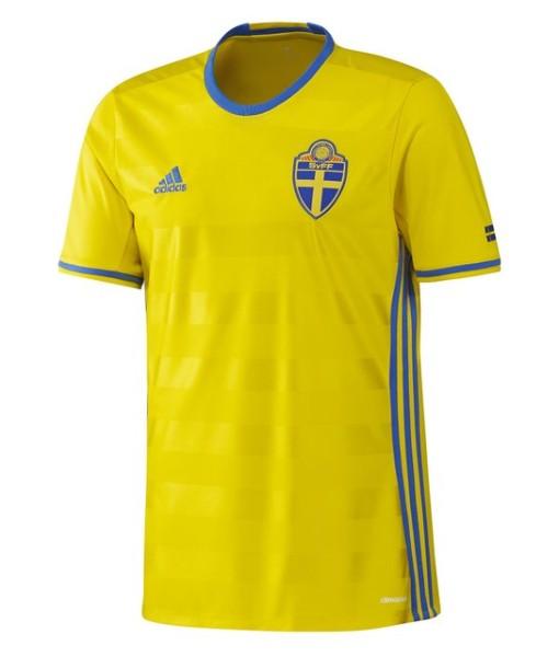adidas スウェーデン 2016ホーム ユニフォーム Yellow 1