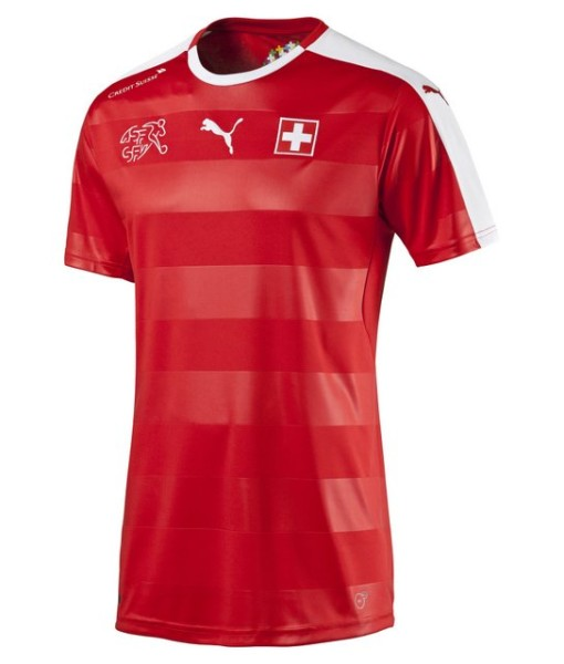 PUMA スイス 2016ホーム ユニフォーム Red 1