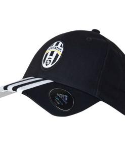 adidas ユベントス 3ストライプ ベースボールキャップ Black