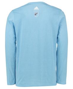 adidas ニューヨークシティ 16 オーセンティック ロング Tシャツ Blue
