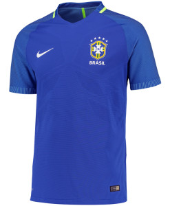 NIKE ブラジル 2016Away マッチ ユニフォーム シャツ Blue