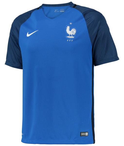 NIKE フランス 2016Home ユニフォーム シャツ Blue 1
