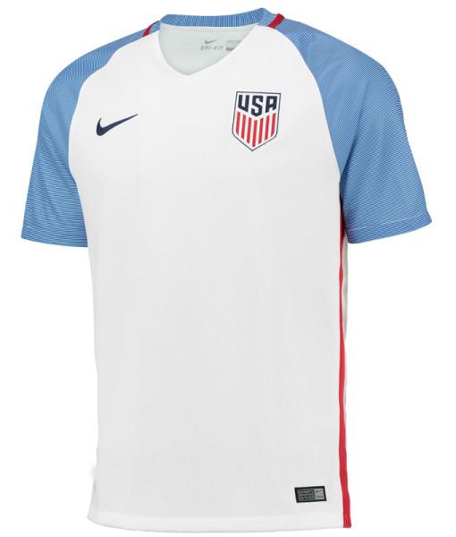 NIKE アメリカ 2016Home ユニフォーム シャツ White 1