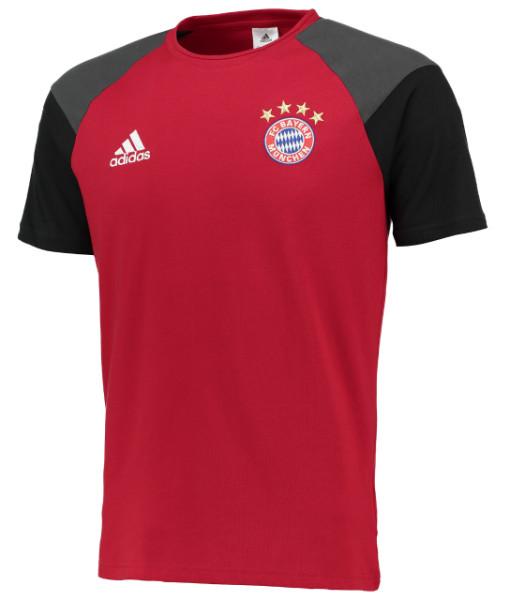adidas バイエルン ミュンヘン 16/17 トレーニング Tシャツ Red 1