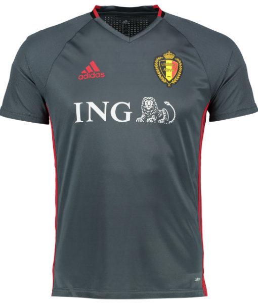 adidas ベルギー 2016 トレーニングジャージ シャツ Grey