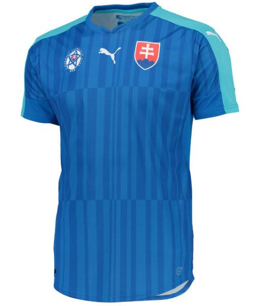 PUMA スロバキア 2016Away ユニフォーム シャツ Blue 1