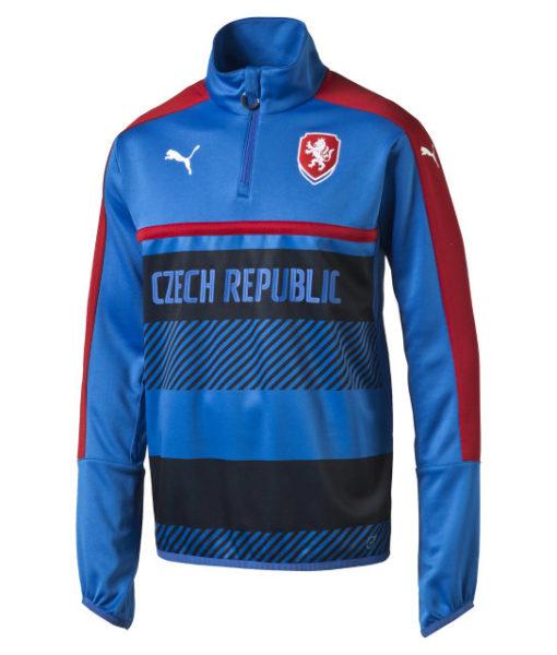 PUMA チェコ 2016 トレーニング トップ Blue 1