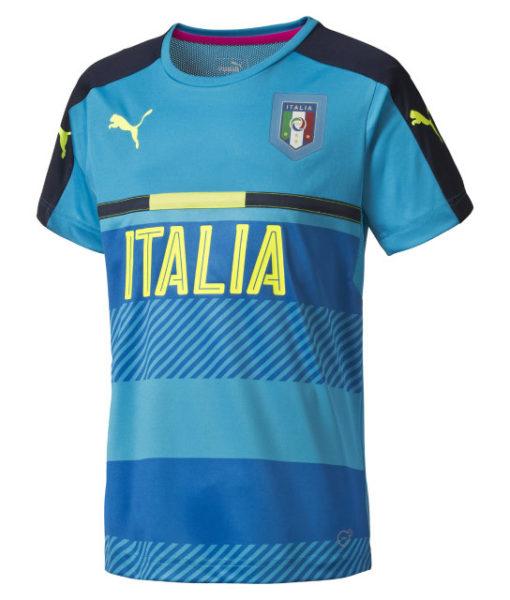 PUMA イタリア 2016 トレーニングジャージ シャツ Blue 1