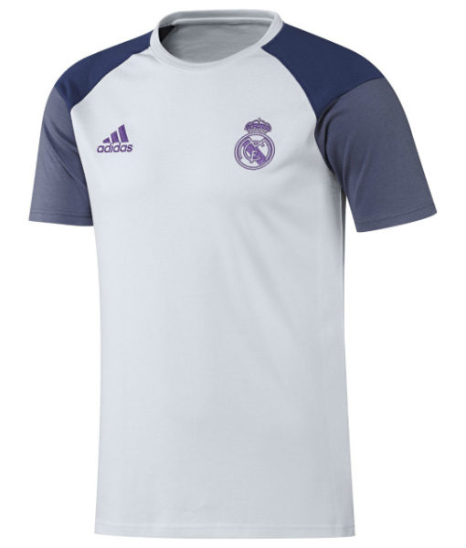 adidas レアルマドリード 16/17 トレーニング Tシャツ White 1