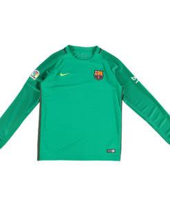 NIKE FCバルセロナ Kids 16/17 AwayGKユニフォーム 長袖 シャツ Black