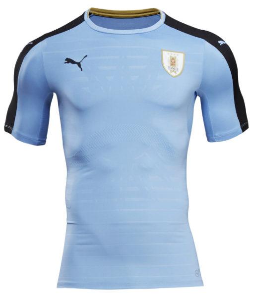 PUMA ウルグアイ 2016Home ユニフォーム シャツ Blue 1