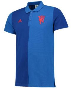 adidas マンチェスターユナイテッド 16/17 カジュアル ポロシャツ Blue