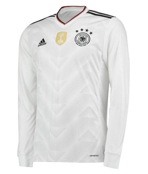 adidas ドイツ 2017 Home コンフェデレーションズカップ長袖 シャツ White 1