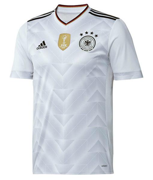 adidas ドイツ 2017 Home オーセンティック シャツ White 1