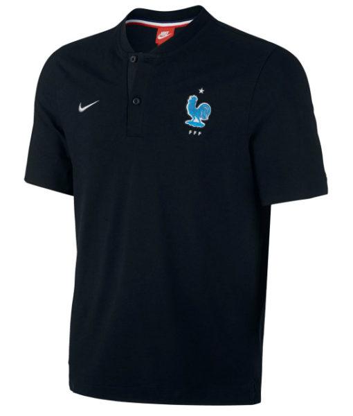 NIKE フランス オーセンティック グランドスラム ポロシャツ Black 1