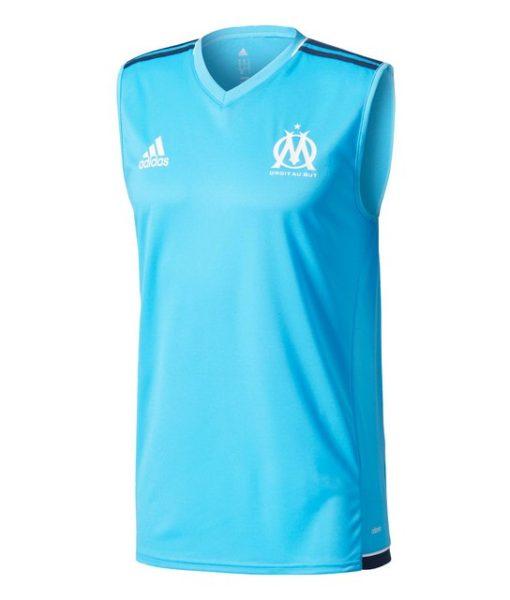 adidas マルセイユ 17/18 トレーニング ノースリーブ シャツ Blue 1