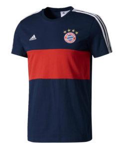 adidas バイエルン ミュンヘン 17/18 3ストライプ Tシャツ Navy