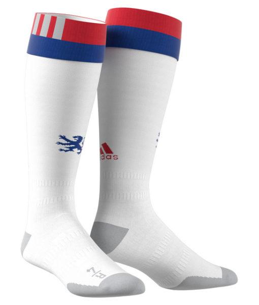 adidas オリンピック リヨン 17/18 ホーム ユニフォーム ソックス White 1