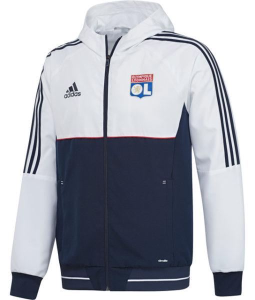 adidas オリンピック リヨン 17/18 トレーニング プレゼンテーション ジャケット White 1