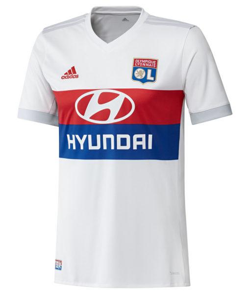 adidas オリンピック リヨン 17/18 ホーム ユニフォーム シャツ White 1