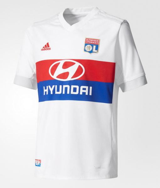 adidas オリンピック リヨン Kids 17/18 ホーム ユニフォーム シャツ White 1