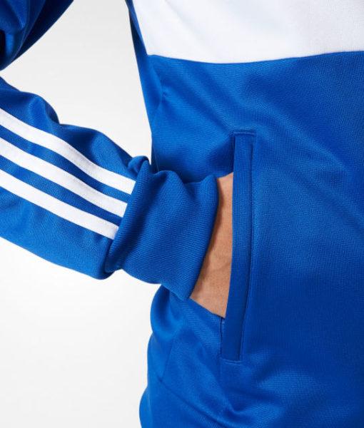 adidas シャルケ04 17/18 3ストライプ トラック ジャケット Blue