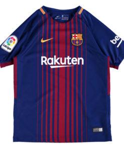 NIKE FCバルセロナ Kids 17/18 ホーム ユニフォーム シャツ Blue