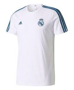 adidas レアルマドリード 17/18 3ストライプ Tシャツ White