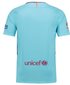 NIKE FCバルセロナ Kids 17/18 アウェイ ユニフォーム シャツ Sky Blue