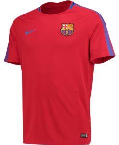 NIKE FCバルセロナ 17/18 Squad トレーニング シャツ Red