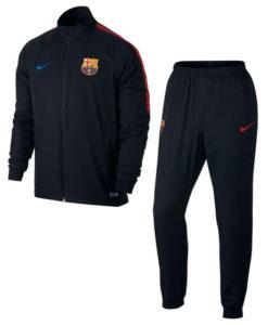 NIKE FCバルセロナ 17/18 Squad トレーニング ウーブントラック スーツ Black