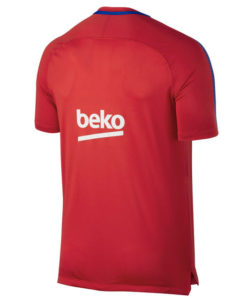 NIKE FCバルセロナ Kids 17/18 Squad トレーニング シャツ Red