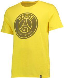 NIKE パリ サンジェルマン 17/18 エンブレム Tシャツ Yellow