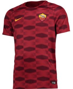 NIKE ASローマ Kids 17/18 Squad プレマッチ シャツ Red