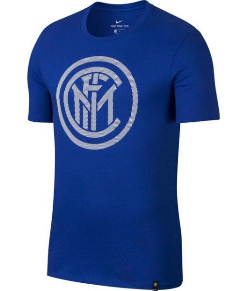 NIKE インテル 17/18 エンブレム Tシャツ Blue 1