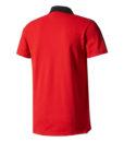adidas マンチェスターユナイテッド 17/18 3ストライプ ポロシャツ Red