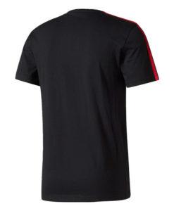 adidas マンチェスターユナイテッド 17/18 3ストライプ Tシャツ Black