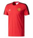 adidas マンチェスターユナイテッド 17/18 3ストライプ Tシャツ Red