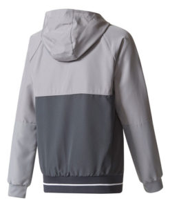 adidas マンチェスターユナイテッド Kids 17/18 トレーニング プレゼンテーション ジャケット Grey