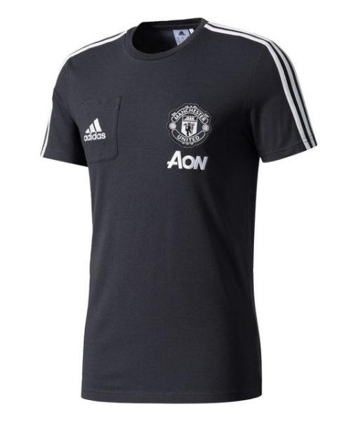 adidas マンチェスターユナイテッド 17/18 トレーニング Tシャツ Black 1